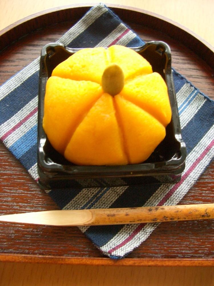秋の和菓子~かぼちゃの練り切り