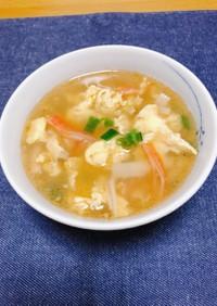 かにかまと卵のスープ