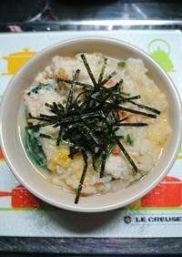 豆腐とむね肉のポカポカお粥さん〜♪♪♪