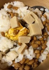 納豆とビヨンドとうふのご飯