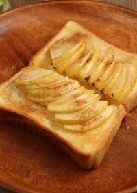 簡単!りんごトースト☆シュガーバター