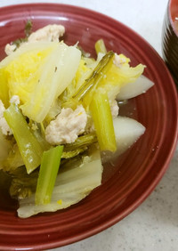 ✨鶏と野菜のスープ&ネギジャガイモの味噌