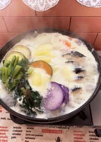 クリーミー洋風チーズフォンデュ鍋のスープ