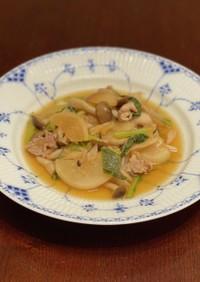 ホットクックで簡単☆豚肉とかぶの炒め煮