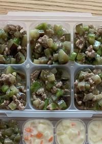 離乳食後期✩茄子ピーマン豚味噌炒め