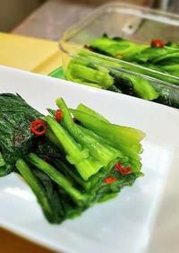 小松菜の浅漬け/作り置き常備菜/野沢菜
