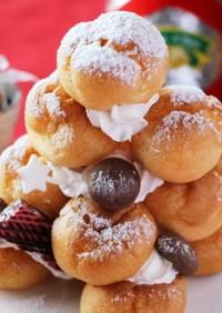 クリスマスに♡可愛いツリーシュークリーム