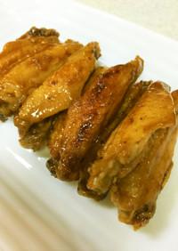 フライパンで簡単!鶏手羽中の甘辛焼き