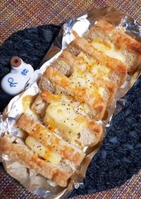 チーズ挟んで焼いただけ 簡単焼き油揚げ