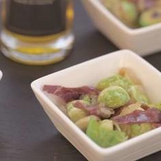 芽キャベツのオリーブオイル炒め