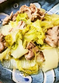 牡蠣だししょうゆで作る、白菜と豚肉の煮物