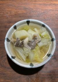 ひらたけ&根菜あっさりスープ