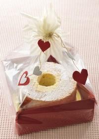 チョコクリーム入りバナナシフォンケーキ