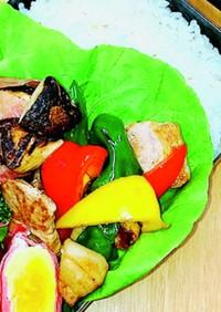 豚肉とパプリカの玉ねぎドレッシングマリネ
