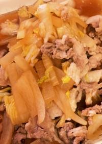白菜と大根と豚肉の煮物。卵とじにも