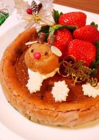 クリスマス★紫芋のベイクドチーズケーキ
