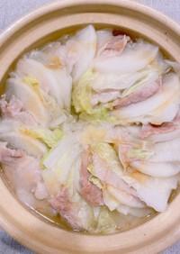 簡単◎白菜と大根と豚バラのもっちり鍋