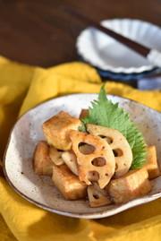 厚揚げ豆腐とれんこんの中華風炒めの写真