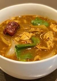 十八和漢火鍋スープで作る野菜卵スープ
