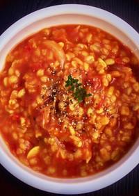 押麦と玉ねぎの*ダイエットトマトリゾット