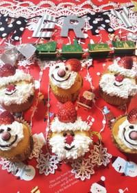 Xmasカップケーキ♡サンタとスノーマン