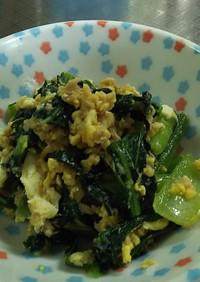 フライパン1つで小松菜のツナ卵炒め❗️