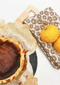 簡単♡美味 柚子香るバスク風チーズケーキ