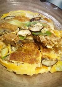 鯵フライの卵とじ