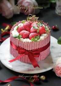 つぶつぶ苺ポッキーのXmasケーキ