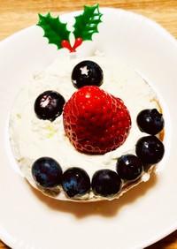 糖質オフ☆スノーマンのクリスマスケーキ♪