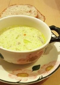 香草入りクリームチーズのスープ