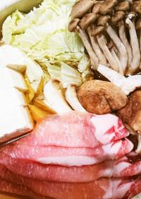 牡蠣だし醤油で豚肉しゃぶしゃぶ
