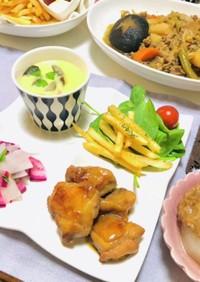 今夜の夕飯は鶏肉メインのメニュー和食献立
