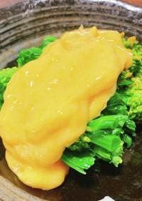 菜の花の黄身酢餡がけ