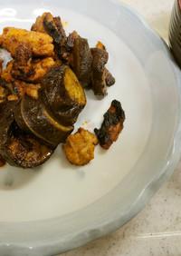 豚肉と茄子のケチャップ炒め&ネギの味噌汁