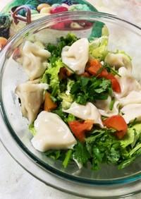 パクチー餃子サラダ