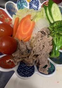 牛肉の野菜蒸し