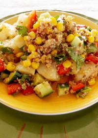じゃがいもとキヌアの中華サラダ