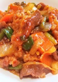 美味い簡単ズボラ飯ニンニクの芽プルコギ丼