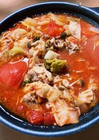 トマト缶とケチャップでトマト鍋