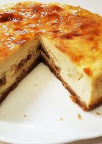 ラフランスと無花果のスライスチーズケーキ