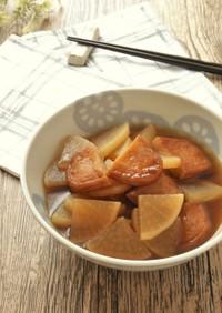 材料4つ★冷凍大根とさつま揚げの煮物