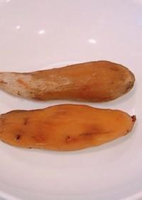 蜜たっぷり焼き芋で丸干し芋、焼き干し芋