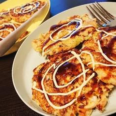 【粉無し】高野豆腐でヘルシーお好み焼き!