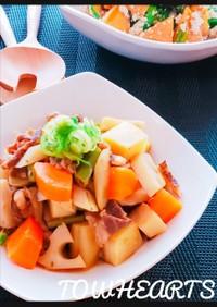 牛肉と根菜の韓国風煮