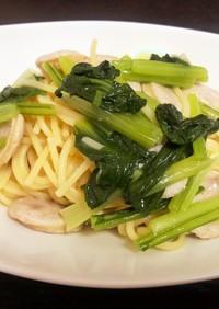 小松菜とウインナーのワンポットパスタ