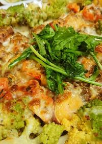 ロマネスコと安納芋とトマトのチーズ焼