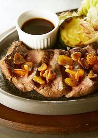 思いっきりニンニク味の低温調理ステーキ