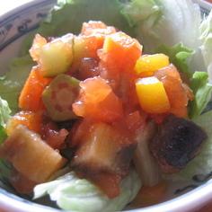 いろいろ野菜ゼリーでサラダ♪