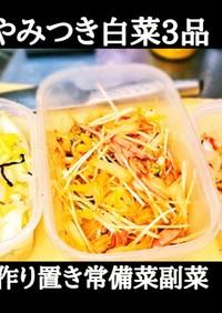 やみつき白菜3品!時短作り置き常備菜副菜